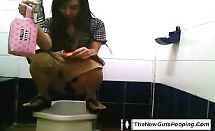 Asian shitting girls