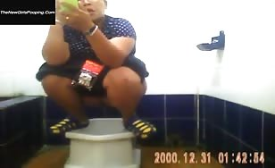 Asian women pooping video