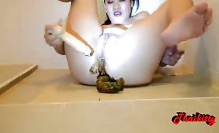 Filthy Thai girl masturbating